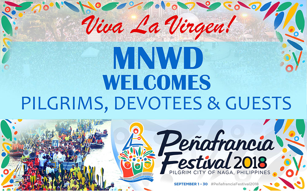 Welcome greetings to peafrancia devotees metropolitan naga water peafranciadevotees m4hsunfo